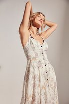 Kimchi & Blue Kimchi Blue Graziano Floral Button-Down Midi Slip Dress