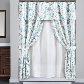 Lush Decor 16-piece Weeping Flora Double Swag Shower Curtain Ser