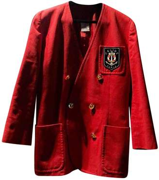 Celine Red Cotton Jacket for Women Vintage