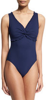 Karla Colletto Ruffle Twist Underwire One-Piece Swimsuit