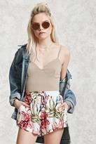 Forever 21 FOREVER 21+ Floral Woven Drawstring Shorts