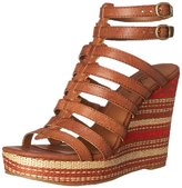 Lucky Brand Labelle Women US 6 Brown Wedge Sandal