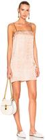 Raquel Allegra Silk Damask 90s Mini Dress