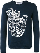 Comme des Garcons abstract print jumper - men - Wool - S