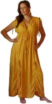 Lotustraders Maxi Caftan Dress Empire Lagenlook H555
