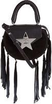 Salar Black Suede Star Fringed Mimi Bag