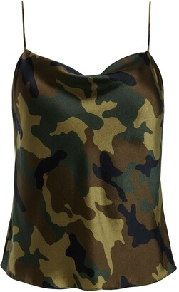 Alice + Olivia Camouflage Print Cami Top