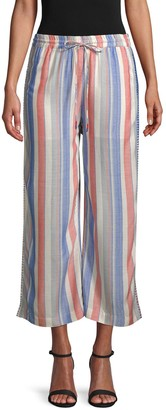 Red Carter Deck Striped Pants