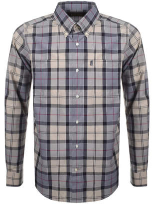 Barbour Long Sleeved Tartan Check Shirt Grey