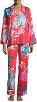 Natori Chianti Satin Pajama Set, Multi Pattern