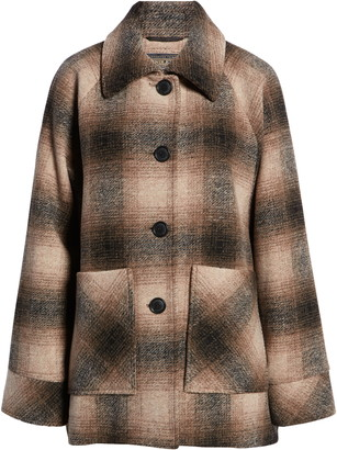 Pendleton Alexandria Wool Blend Cape Coat