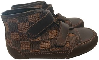 Louis Vuitton Brown Plastic Trainers