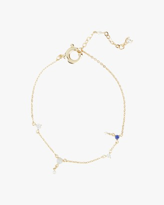 Carolee Dona Freshwater Pearl Gemstone Charm Bracelet