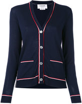 Thom Browne striped trim cardigan - women - Wool - 38