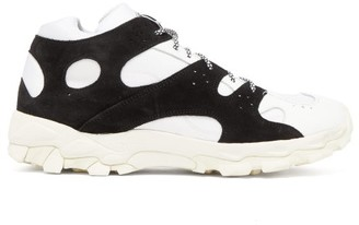 Our Legacy Cage Leather And Suede Trainers - White Black