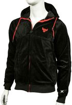 Men's Zipway Chicago Bulls Velour Full-Zip Hoodie