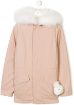 Yves Salomon fur trim coat