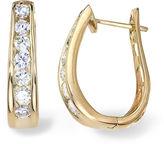 JCPenney FINE JEWELRY 2 CT. T.W. Diamond 14K Yellow Gold Hoop Earrings