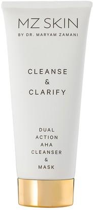 MZ SKIN Cleanse & Clarify Dual Action AHA Cleanser & Mask 100ml