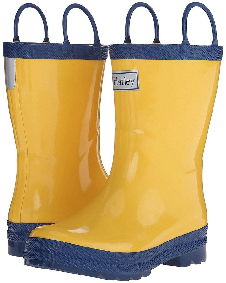 Hatley Kids Rain Boots - Yellow/Navy