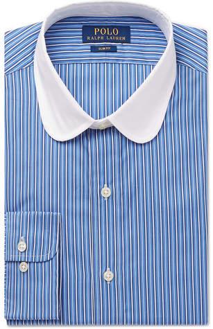 Polo Ralph Lauren Slim-Fit Penny-Collar Striped Cotton Shirt - Men - Blue