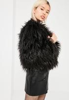 Missguided Black Mongolian Faux Fur Coat