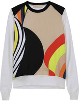 Emilio Pucci Printed silk-blend satin and wool sweater