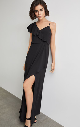 BCBGMAXAZRIA Ruffle Sleeve Maxi Dress
