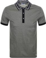 Versace Two Tone Polo T Shirt Khaki