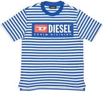 Diesel Stripes Cotton Jersey T-Shirt