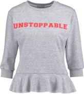 Natasha Zinko Ruffled printed cotton-jersey top