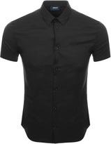 Giorgio Armani Jeans Short Sleeved Slim Fit Shirt Black