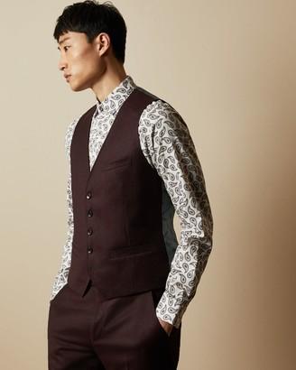 Ted Baker Debonair Plain Wool Waistcoat
