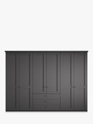 John Lewis & Partners Marlow 300cm Hinged Door Wardrobe with 3 Drawers