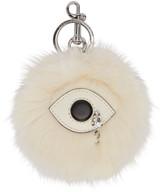 Stella McCartney Ivory Faux-fur Eye Keychain