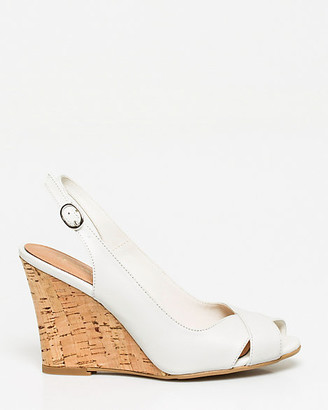 Le Château Leather Slingback Wedge Sandal