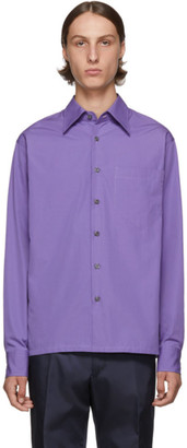 Prada Purple Pocket Shirt