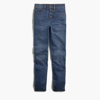 """J.Crew 10"""" Highest-Rise Button-Fly Skinny Jean In Vintage Cape Wash"""