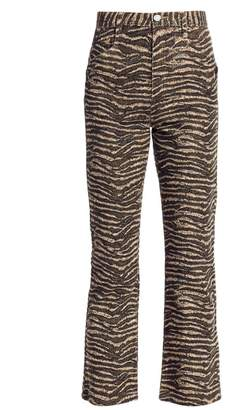 Joie Sharma Animal Print Ankle Pants