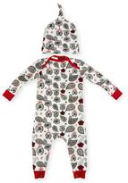 BedHead Love to Give Jersey Coverall w/ Hat, Black/White, Size 3-24 Months