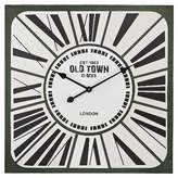 """Lazy Susan Old Town 27"""" Round Wall Clock Green/White ;"""