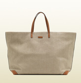 Gucci Large Natural Straw Top Handle Tote