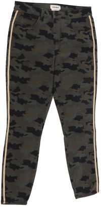 L'Agence Green Cotton Trousers for Women