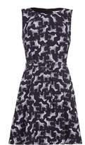 Yumi Repeat Zebra Print Sleeveless Dress