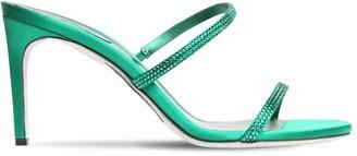 Rene Caovilla 80mm Embellished Satin Sandals