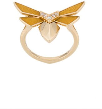 Stephen Webster 18kt Yellow Gold Winged Bug Diamond Ring