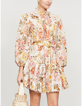 Zimmermann Bonita floral-print linen mini dress
