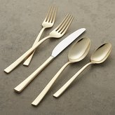 Crate & Barrel Emory Gold 5-Piece Flatware Place Setting