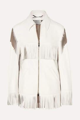 Stella McCartney Fringed Faux Leather Jacket - White