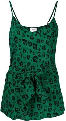 SUBOO Leopard Belted Bias Cut Cami Top